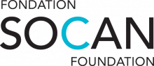 SOCAN logo black and blue